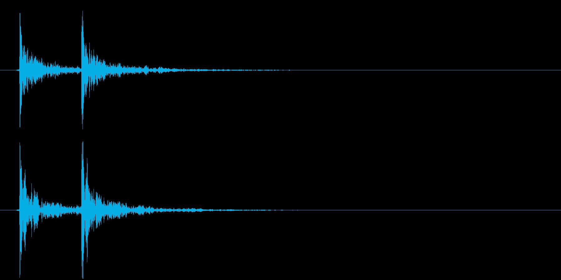 カカン!(拍子木、和風、エフェクト無し)の再生済みの波形