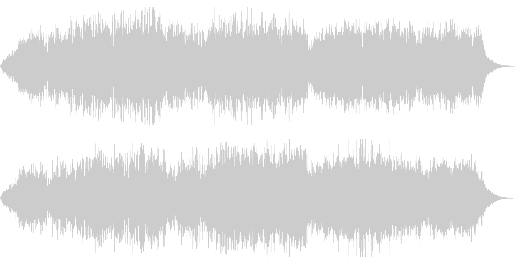 ダーク、ミステリアスなシネマチックBGMの未再生の波形