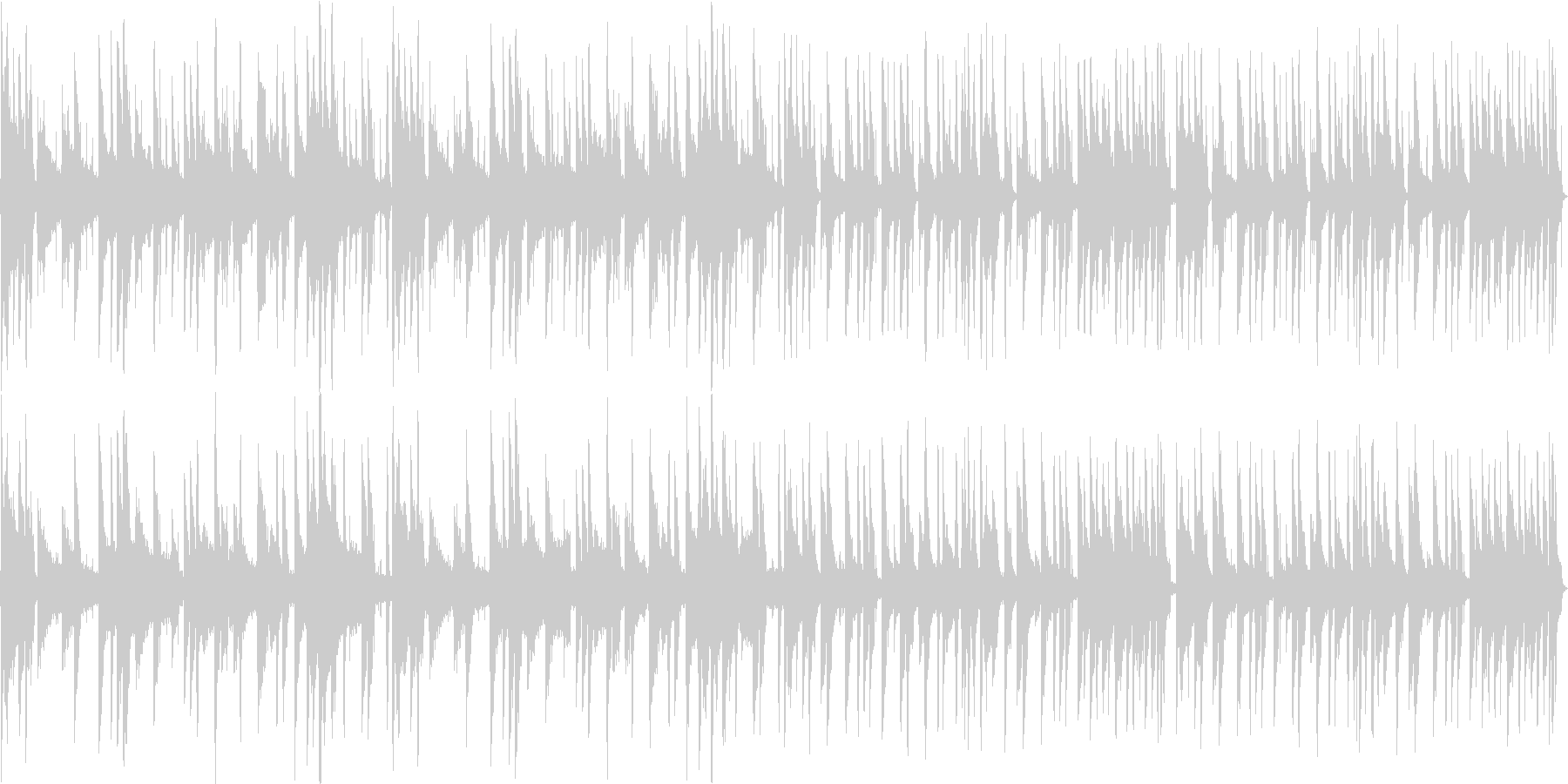 ムーディなR&B系のBGMの未再生の波形