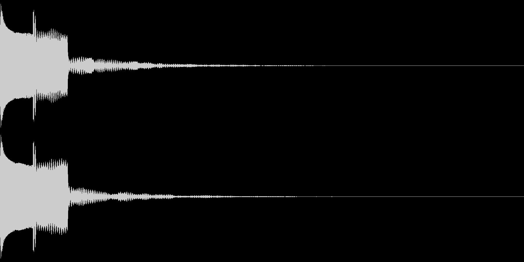 ピコン(ボタン音)リバーブありの未再生の波形