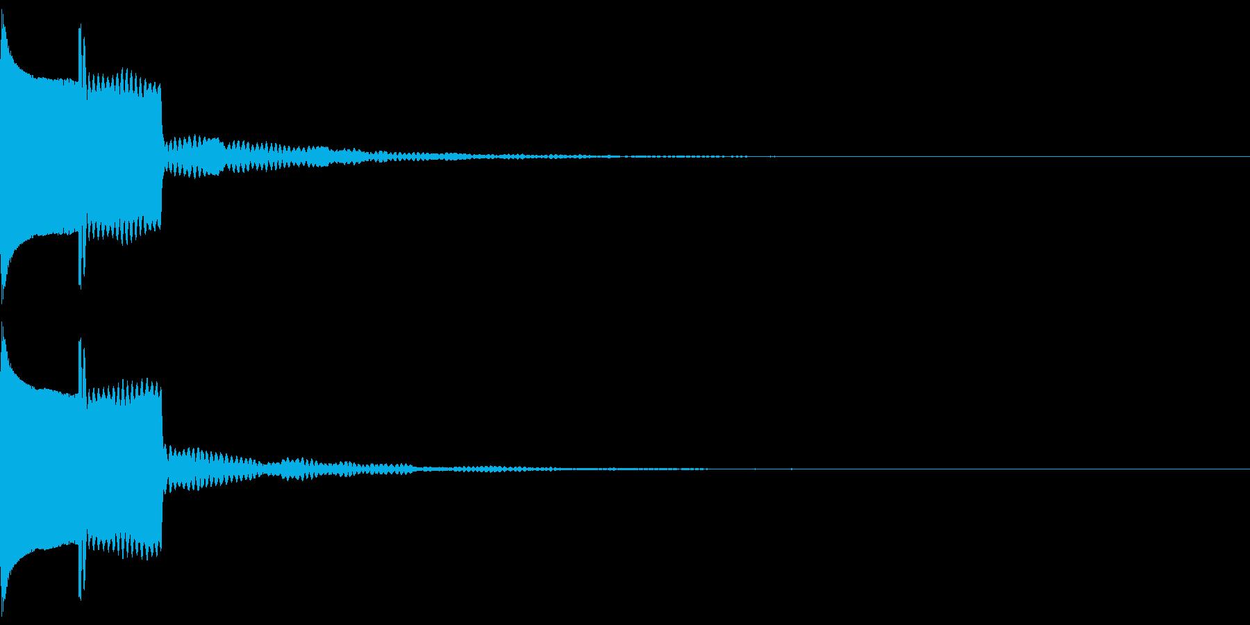ピコン(ボタン音)リバーブありの再生済みの波形