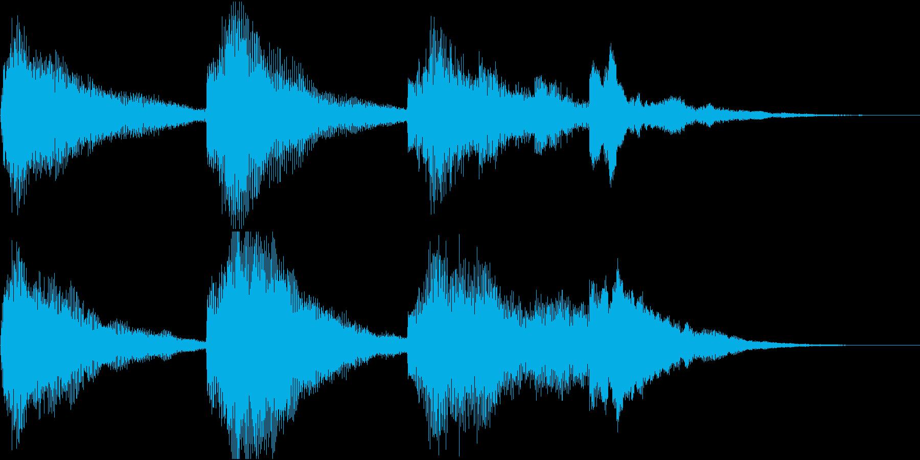 ナチョラルな響きのピアノの再生済みの波形
