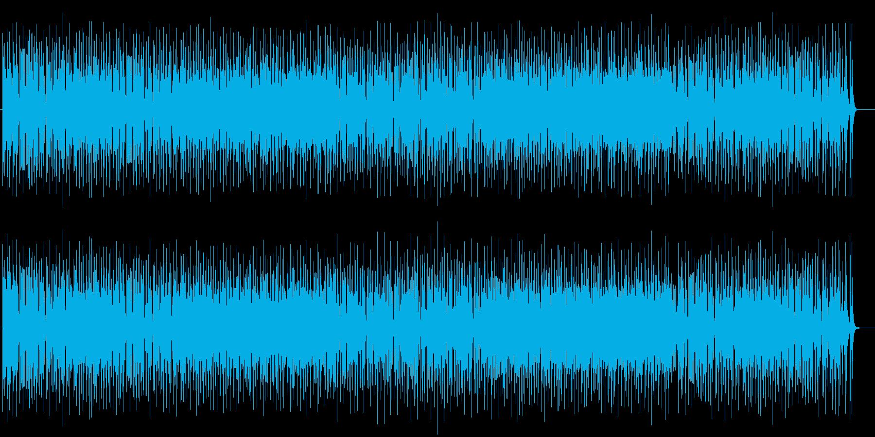 爽やかで心地よいミュージックの再生済みの波形