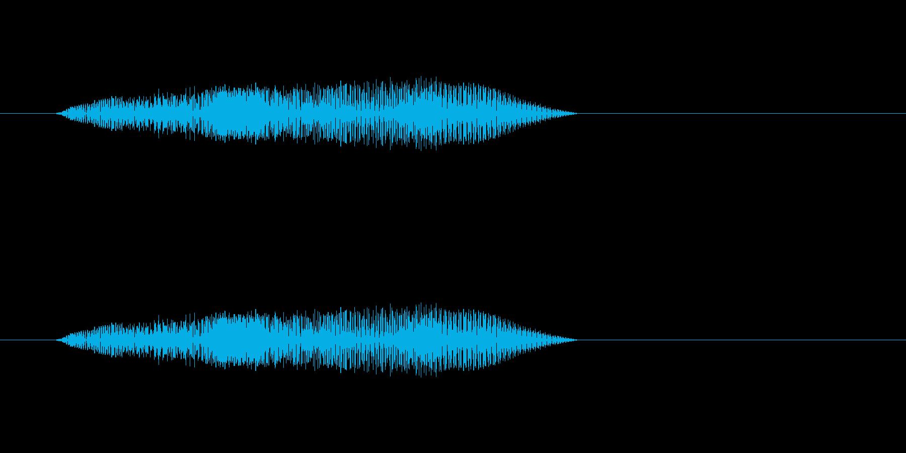 ピポパポ(ロボットの会話音)の再生済みの波形