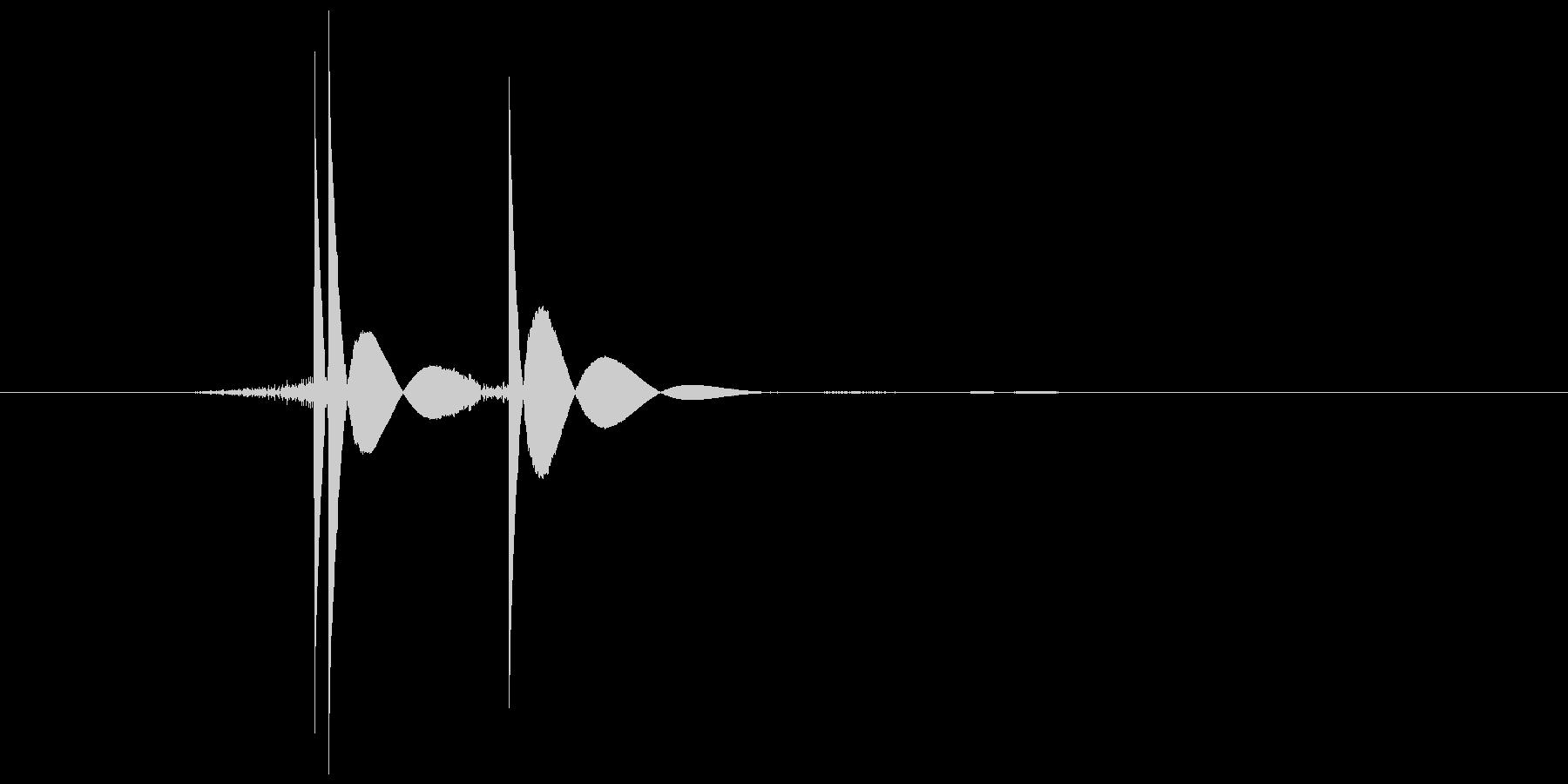 ゲーム(ファミコン風)ヒット音_047の未再生の波形
