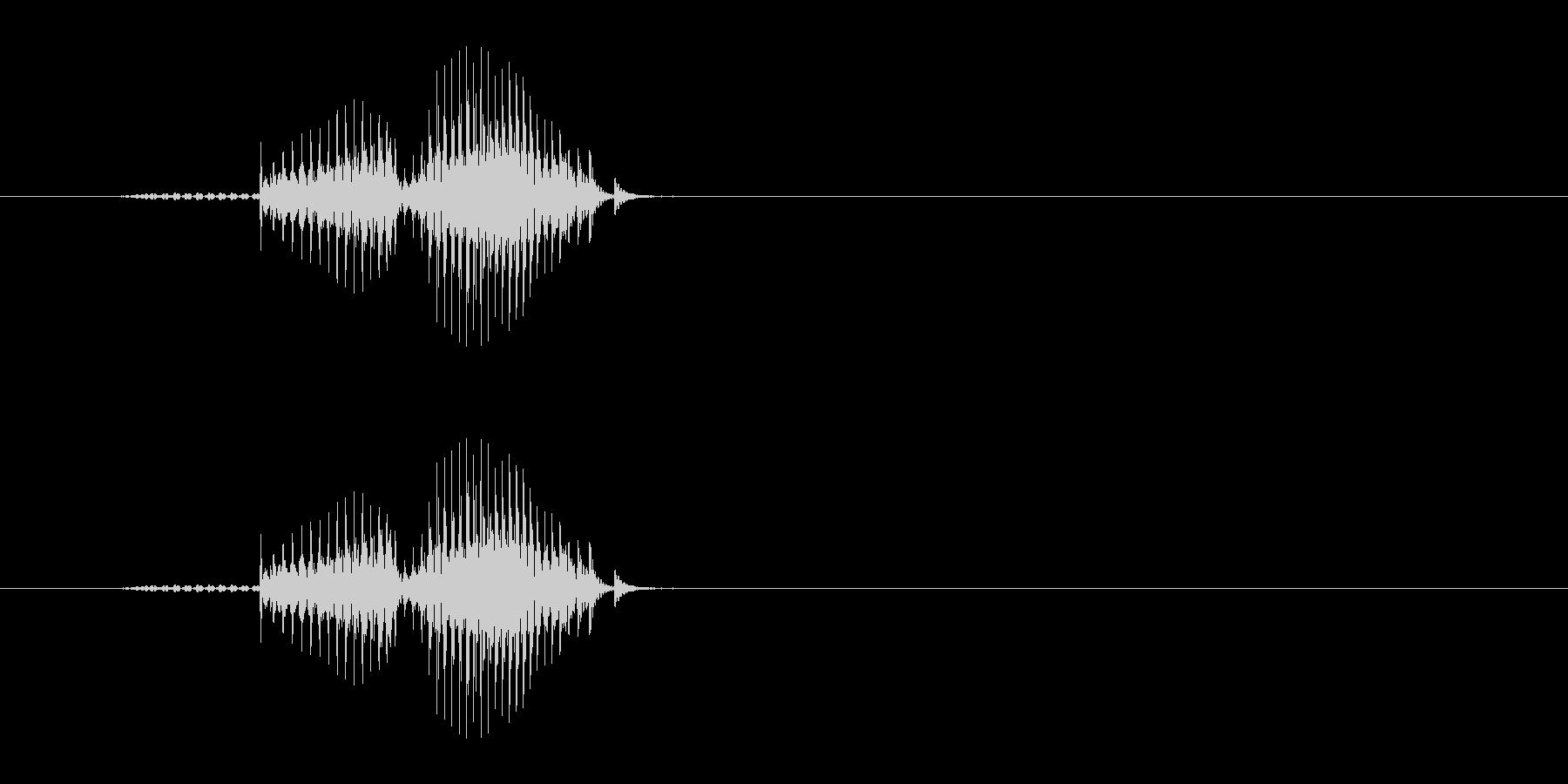 ドラ(麻雀)の未再生の波形