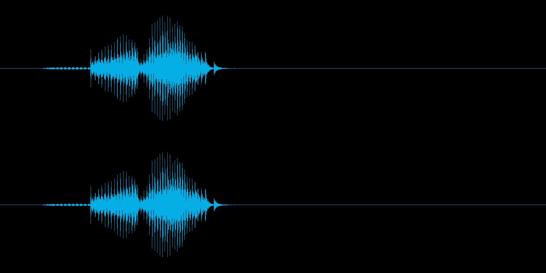 ドラ(麻雀)の再生済みの波形