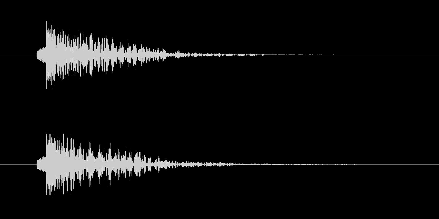 ドンッ 打撃 テロップ インパクトの未再生の波形