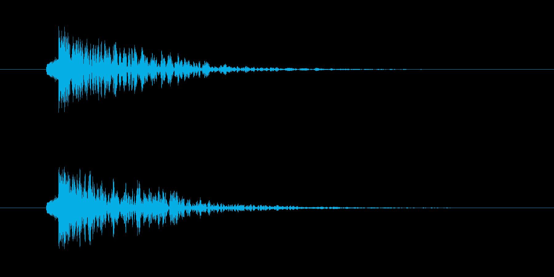 ドンッ 打撃 テロップ インパクトの再生済みの波形