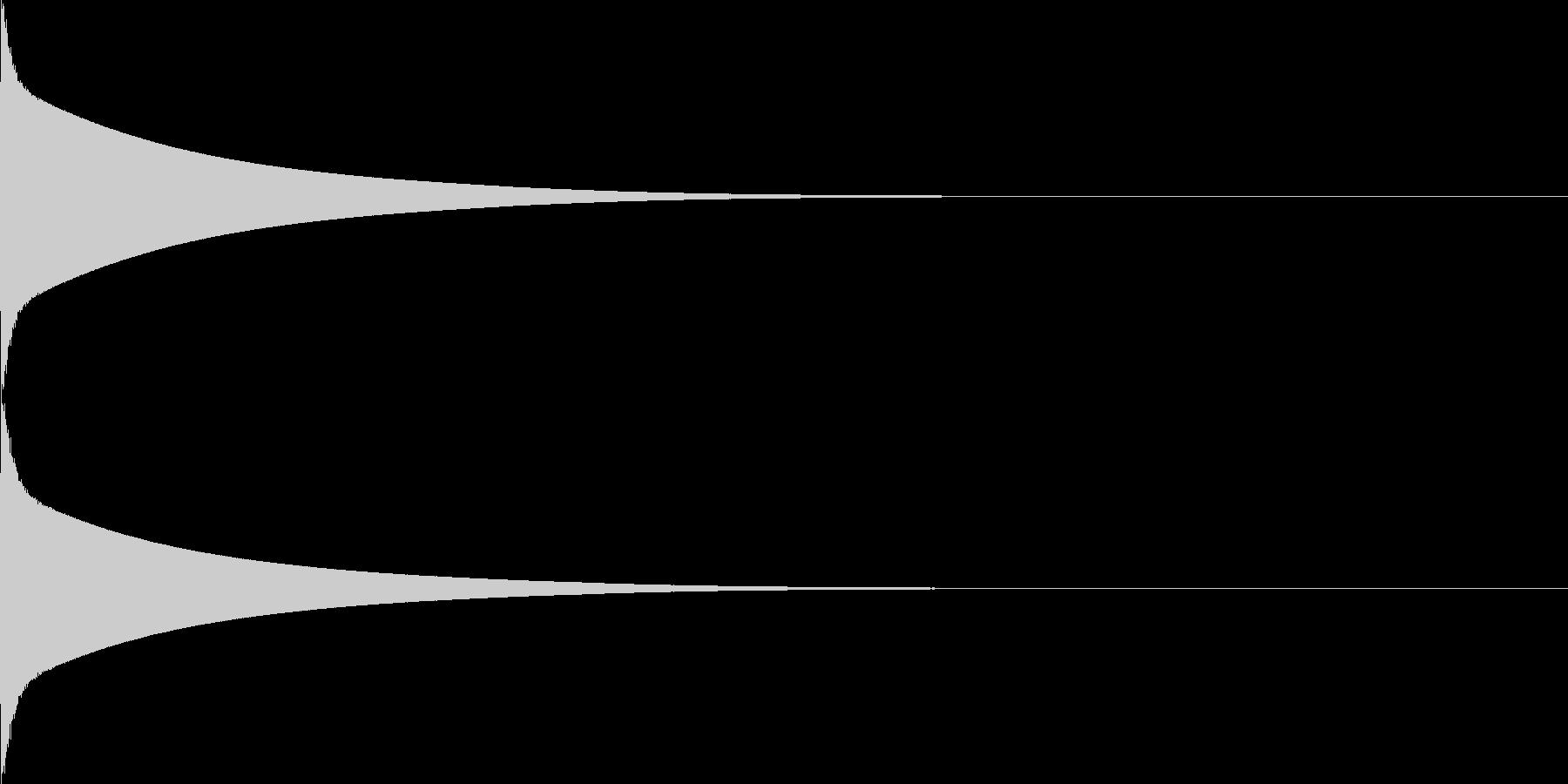【生録音】カリンバ単音01_C6の未再生の波形