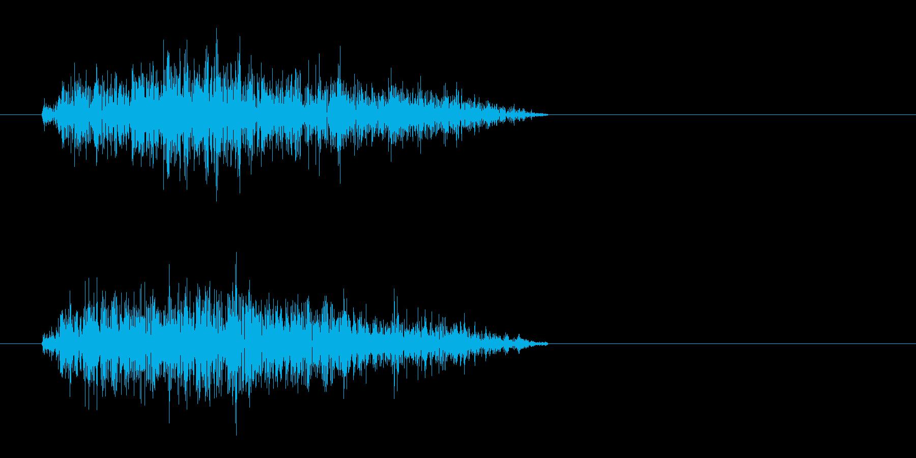 短い金属音(シャッ)の再生済みの波形