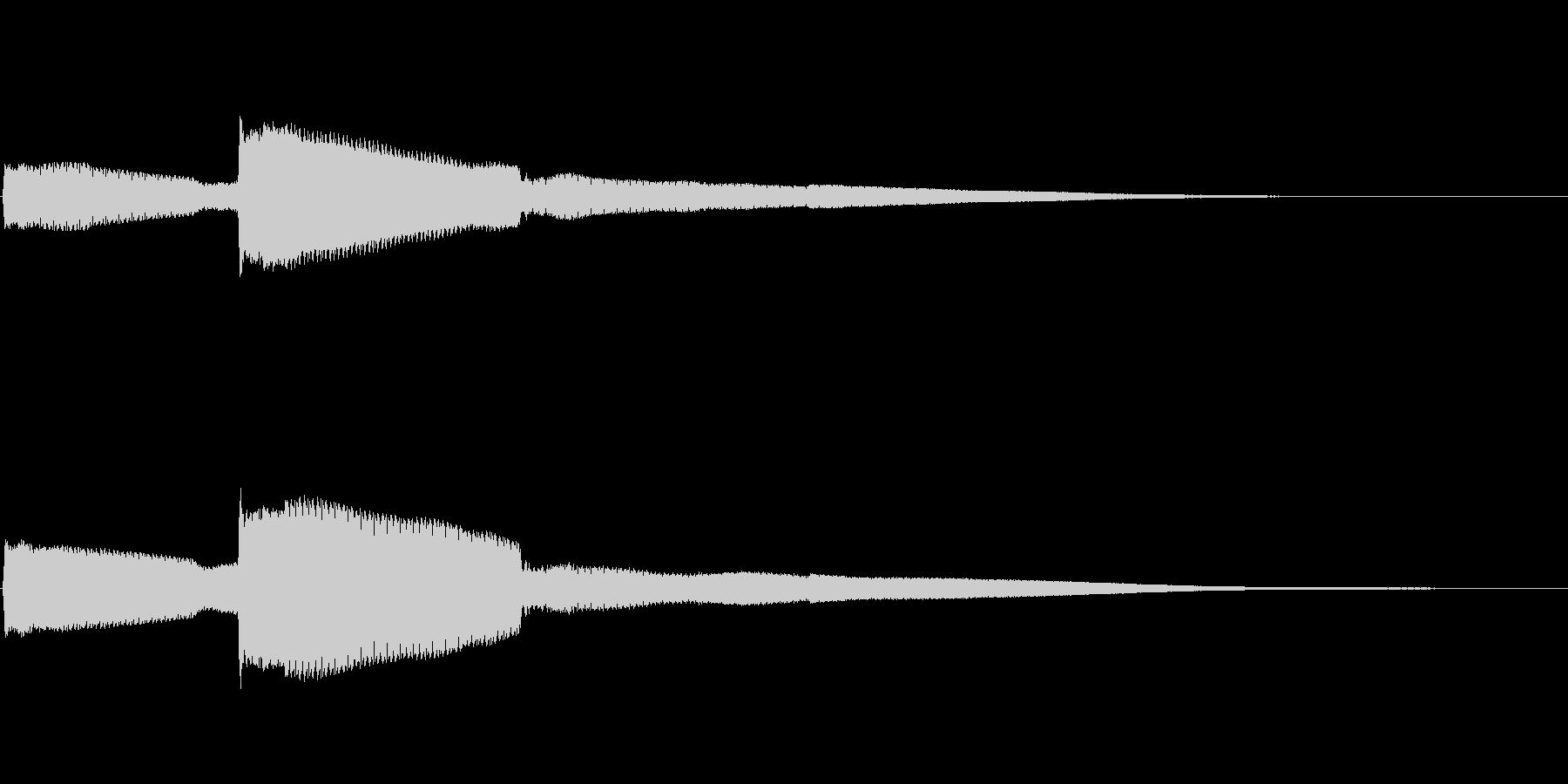 シンプルなコイン取得音(高音)の未再生の波形