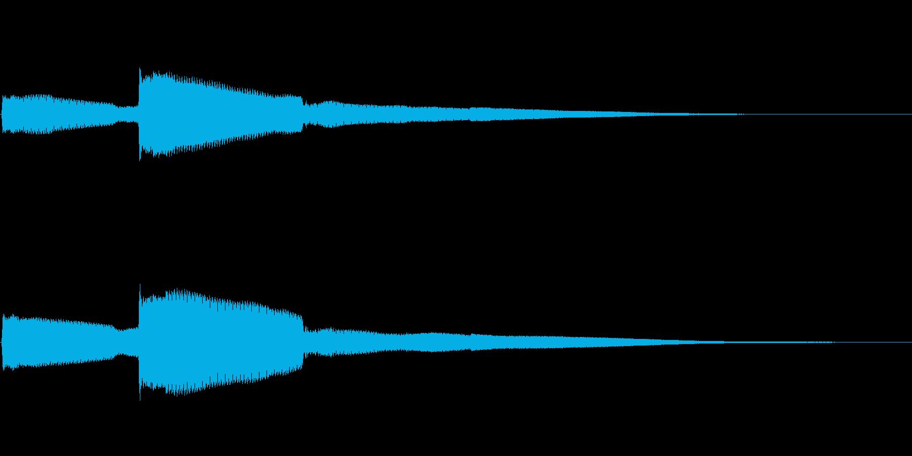 シンプルなコイン取得音(高音)の再生済みの波形