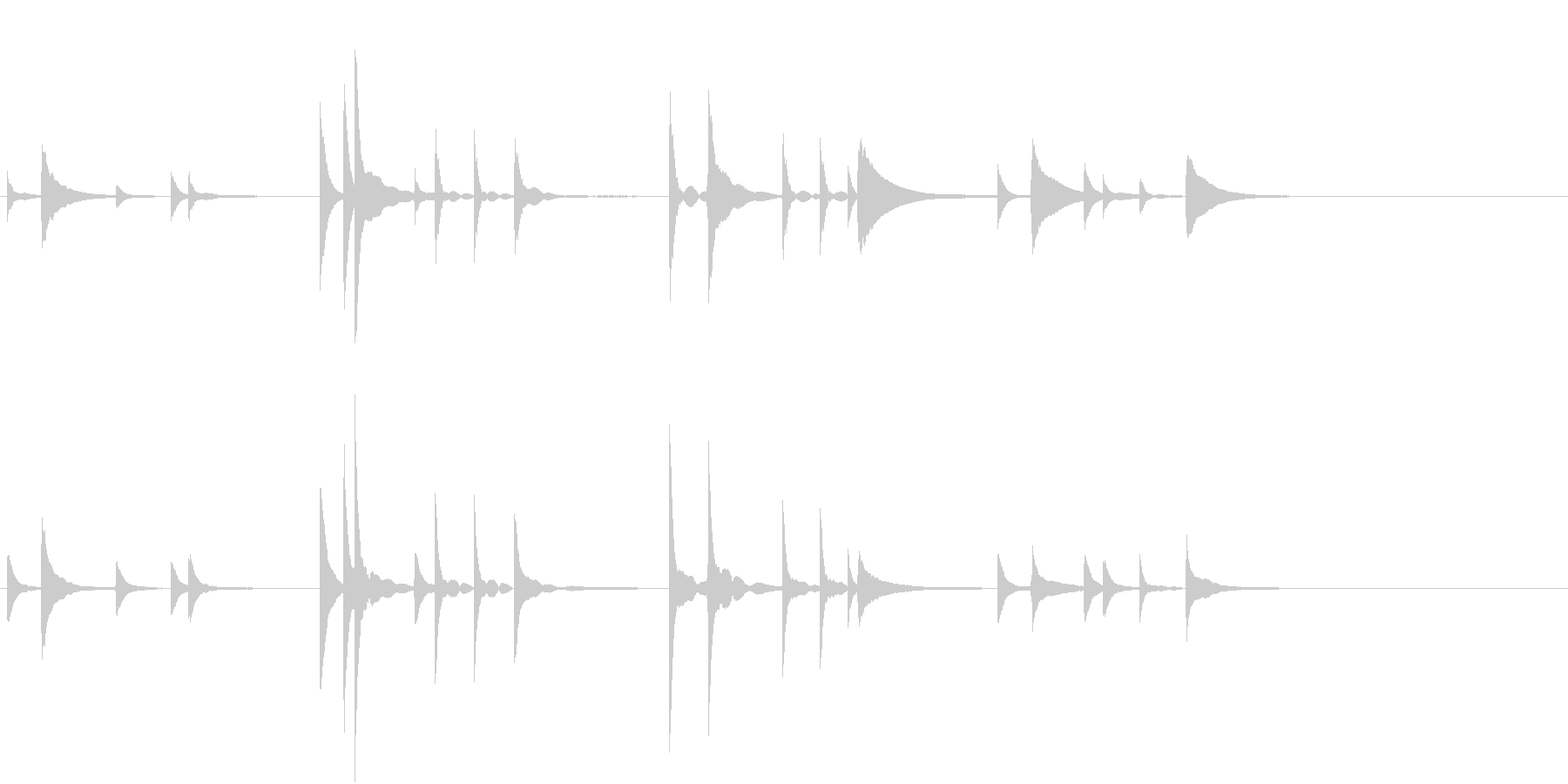 軍歌「海ゆかば」一部分・ピアノソロの未再生の波形