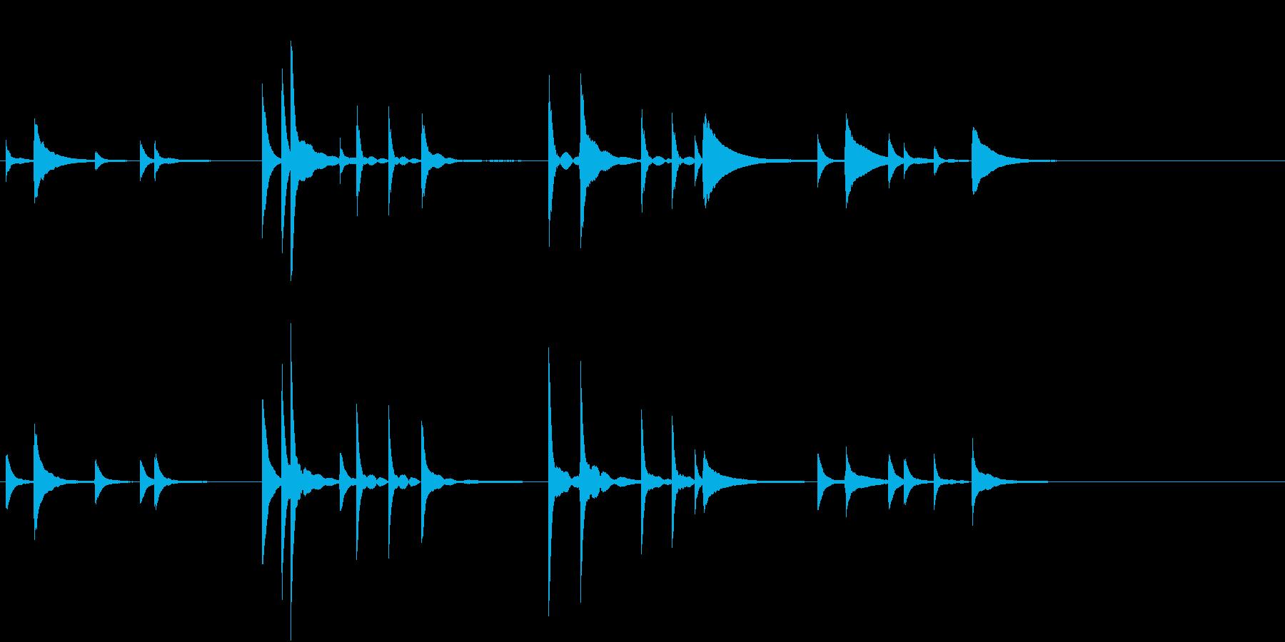 軍歌「海ゆかば」一部分・ピアノソロの再生済みの波形