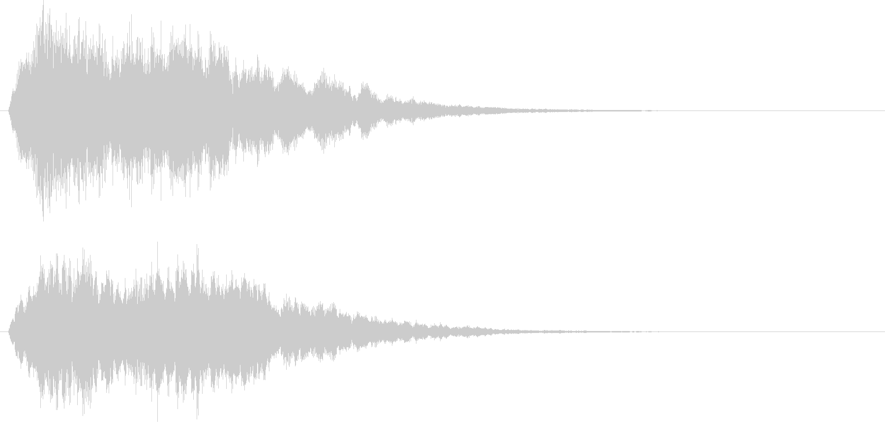 キラキラ上昇↑ シンプル 魔法の未再生の波形