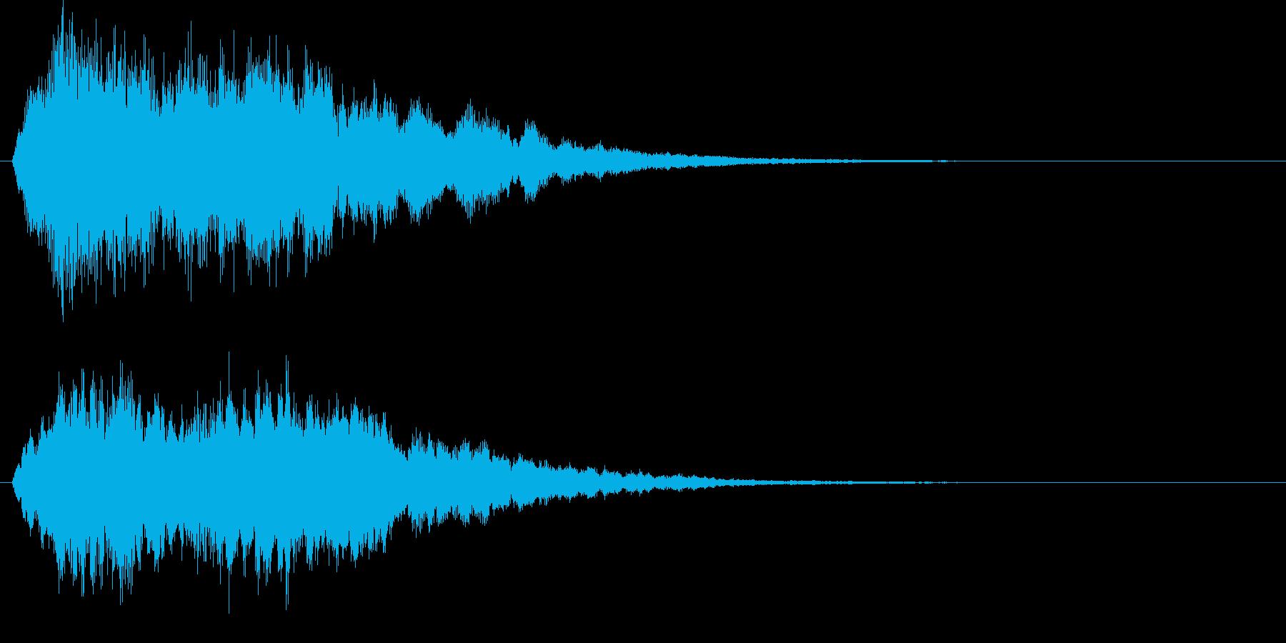 キラキラ上昇↑ シンプル 魔法の再生済みの波形