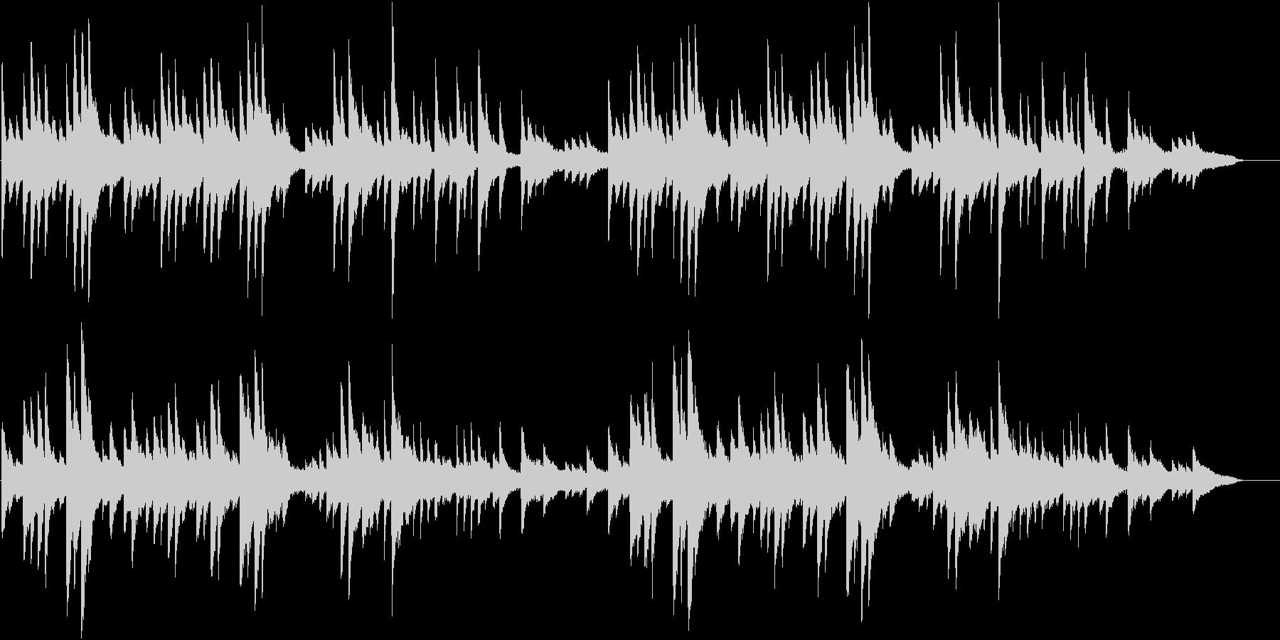 ポストクラシカル系ピアノ曲の未再生の波形