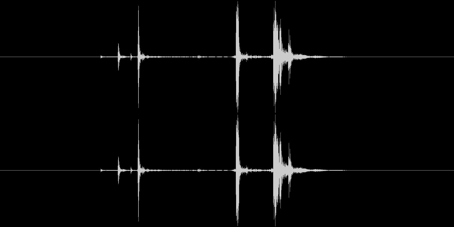 カチャ(金属系)の未再生の波形