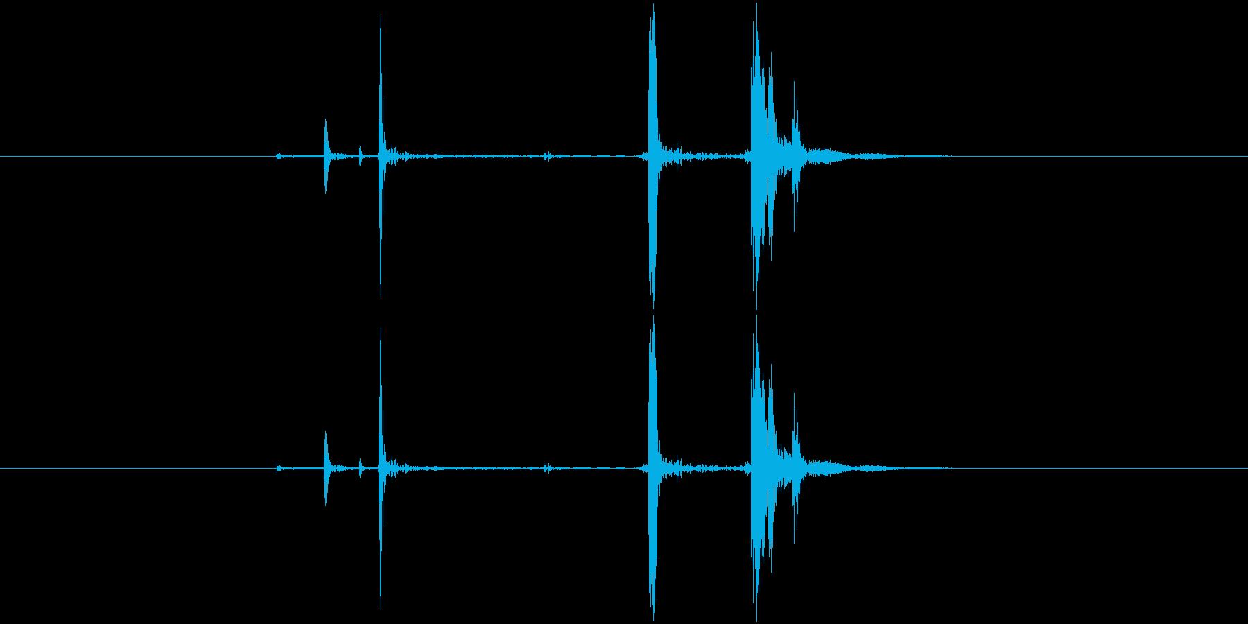 カチャ(金属系)の再生済みの波形