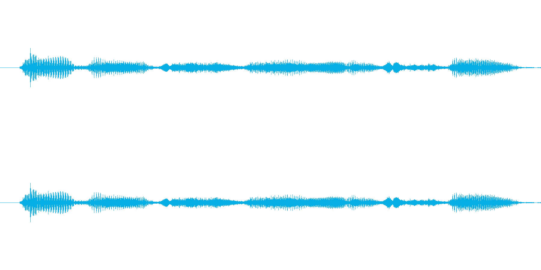 いらっしゃいませ の再生済みの波形