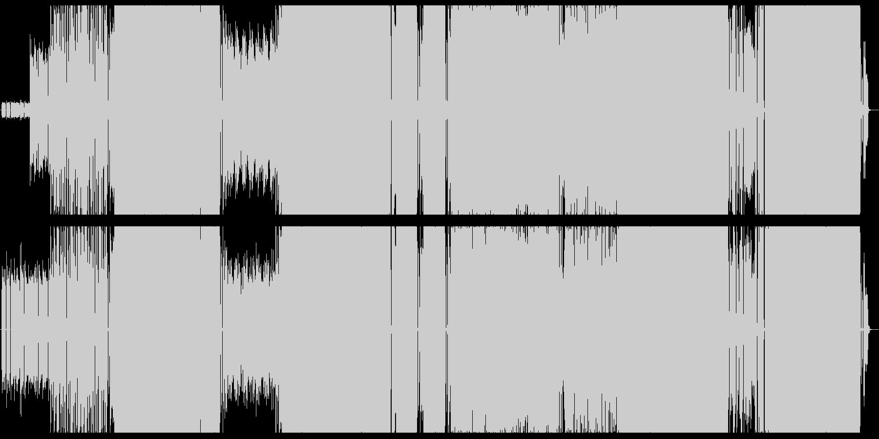 ギターリフとテクノの決意の旅立ちの未再生の波形