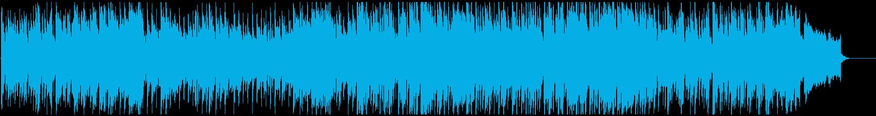 楽しく軽やかで弾むような生楽器系のBGMの再生済みの波形