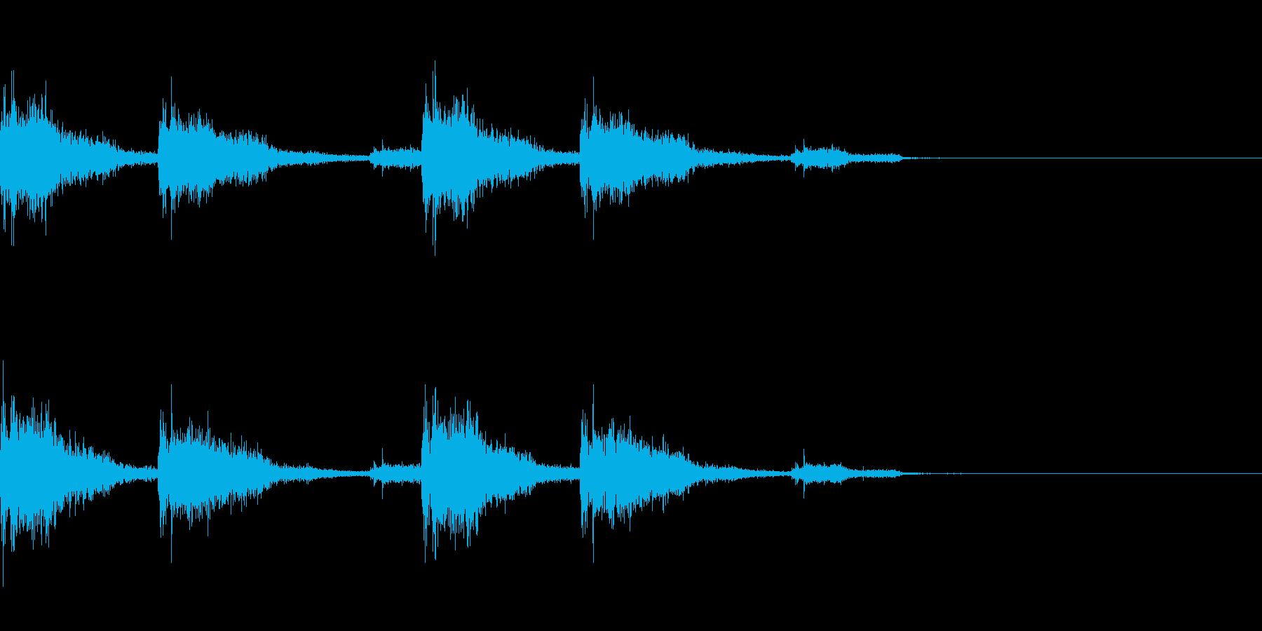 ガッタンゴットン04(電車)の再生済みの波形