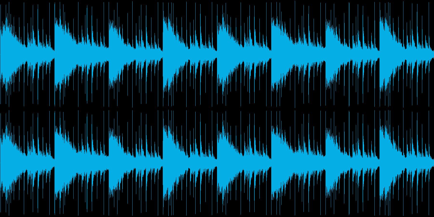ウエスタンで不思議な雰囲気のBGMの再生済みの波形