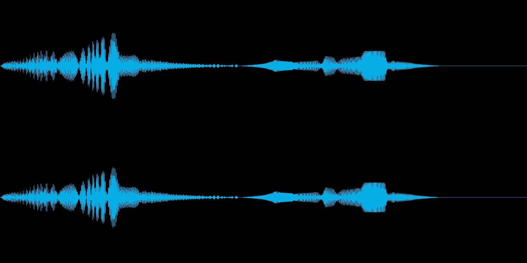 [ピョコン]キャラ着地(コミカル)の再生済みの波形