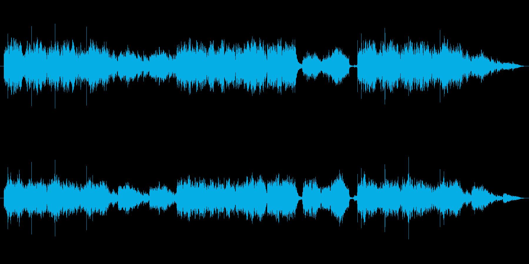 幻想的な和風バラードの再生済みの波形