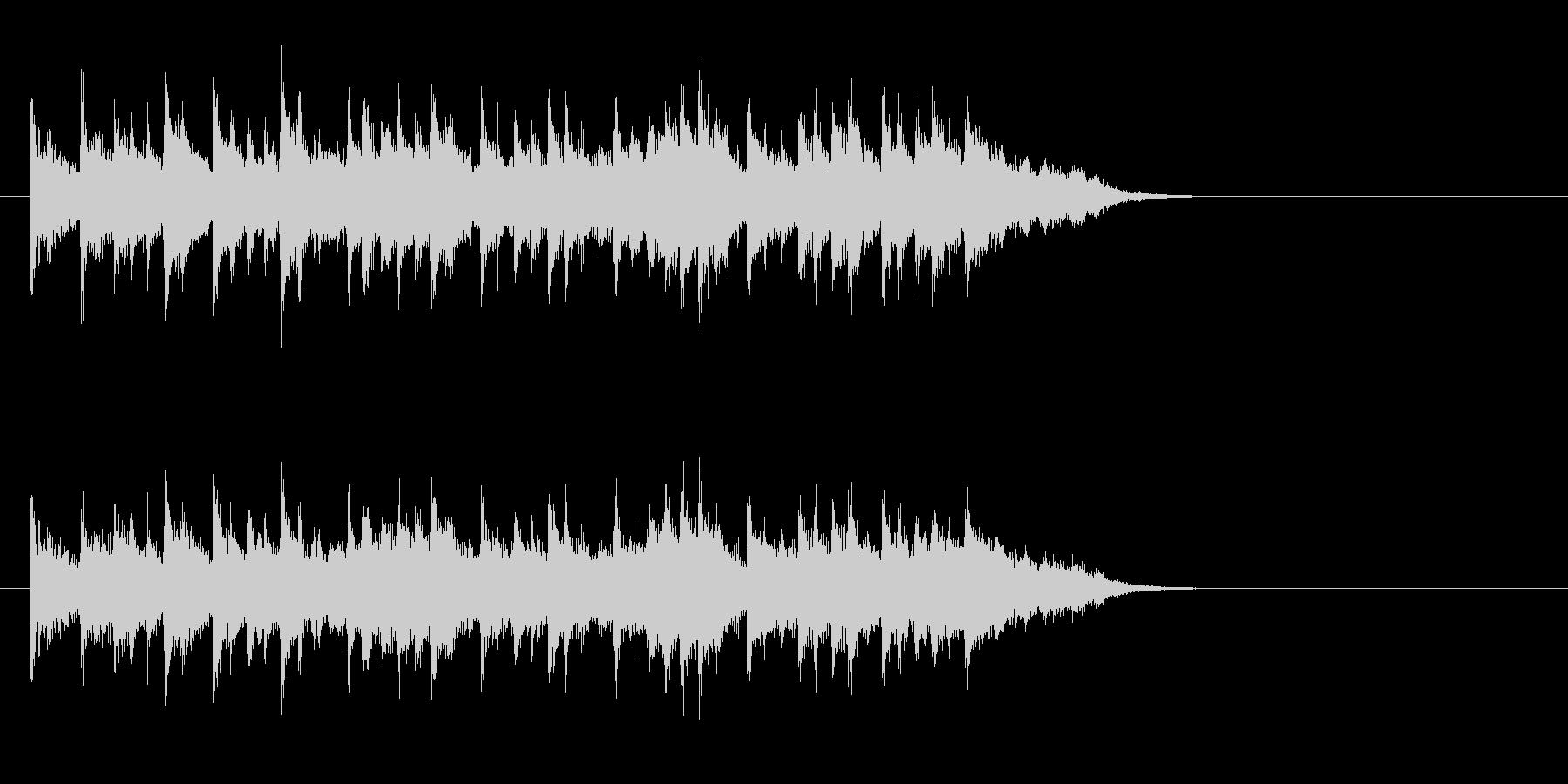 オシャレ感覚の天然色ポップスの未再生の波形
