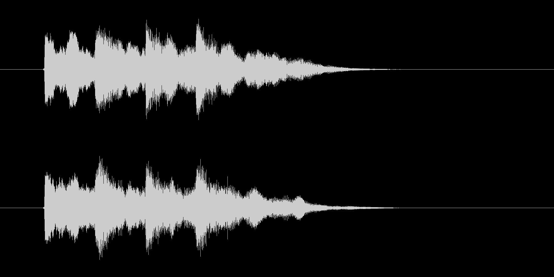 キンコンカンコン(チャイム)の未再生の波形