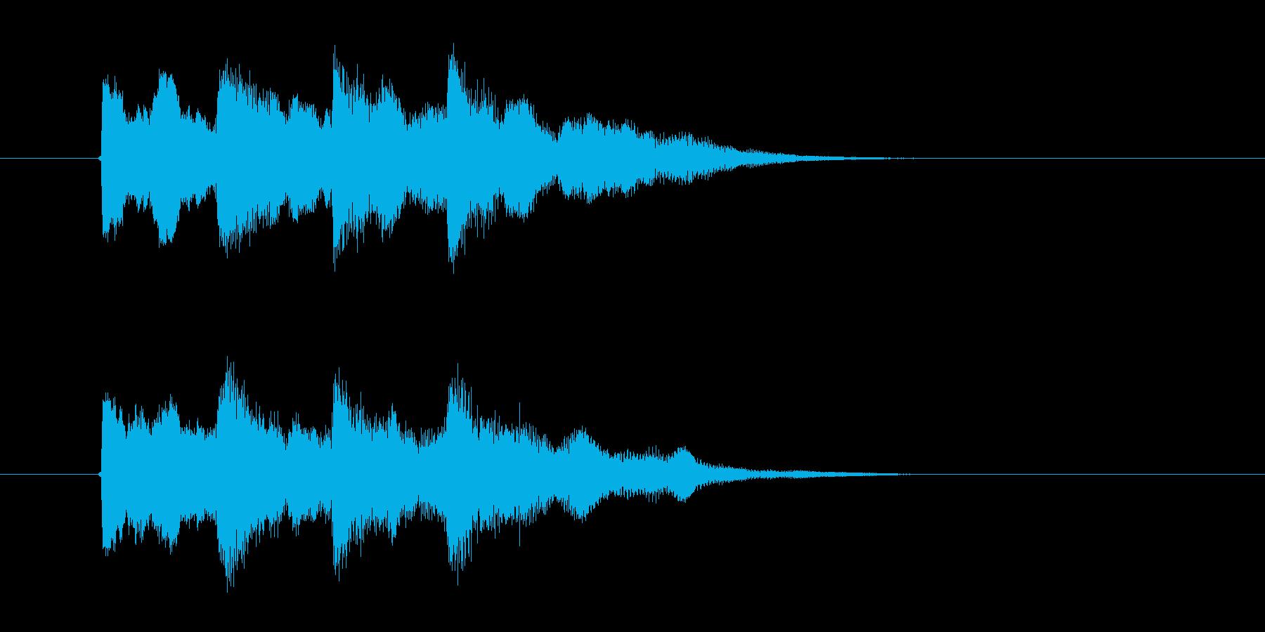 キンコンカンコン(チャイム)の再生済みの波形