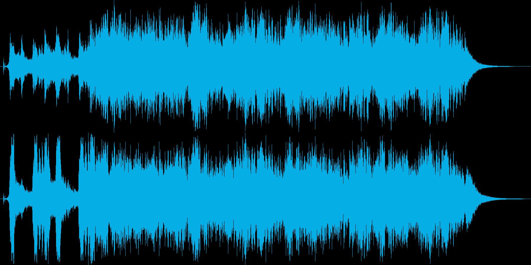 印象的なストリングスとエレキベースの再生済みの波形