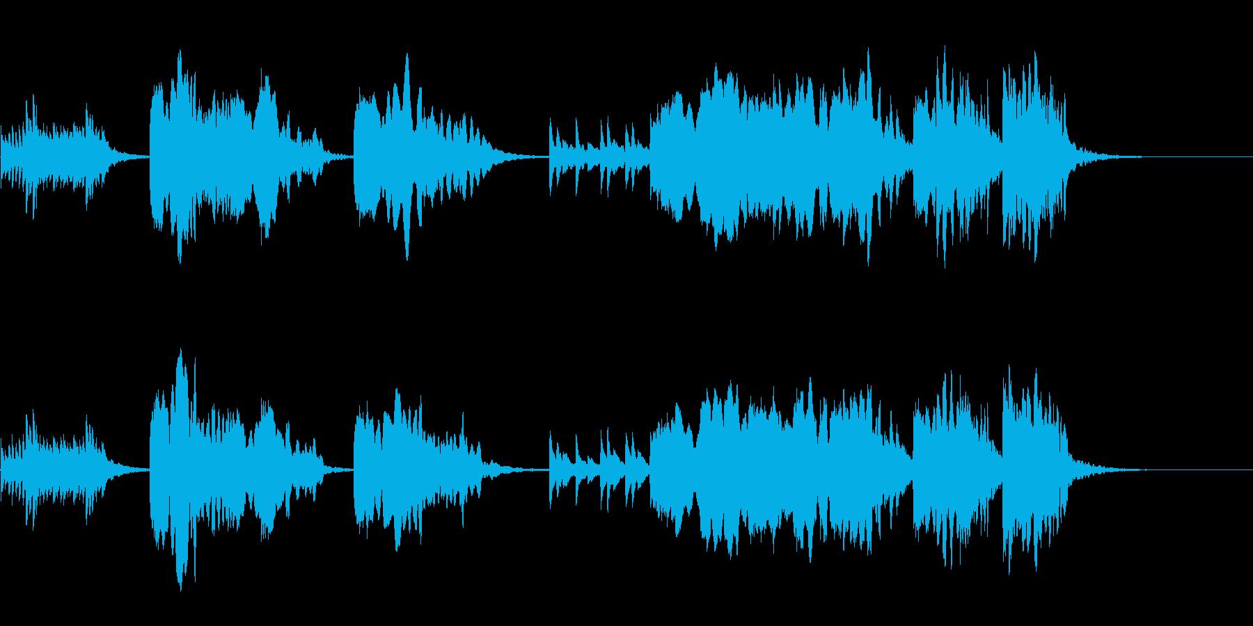 尺八と琴の純和風なイントロの再生済みの波形