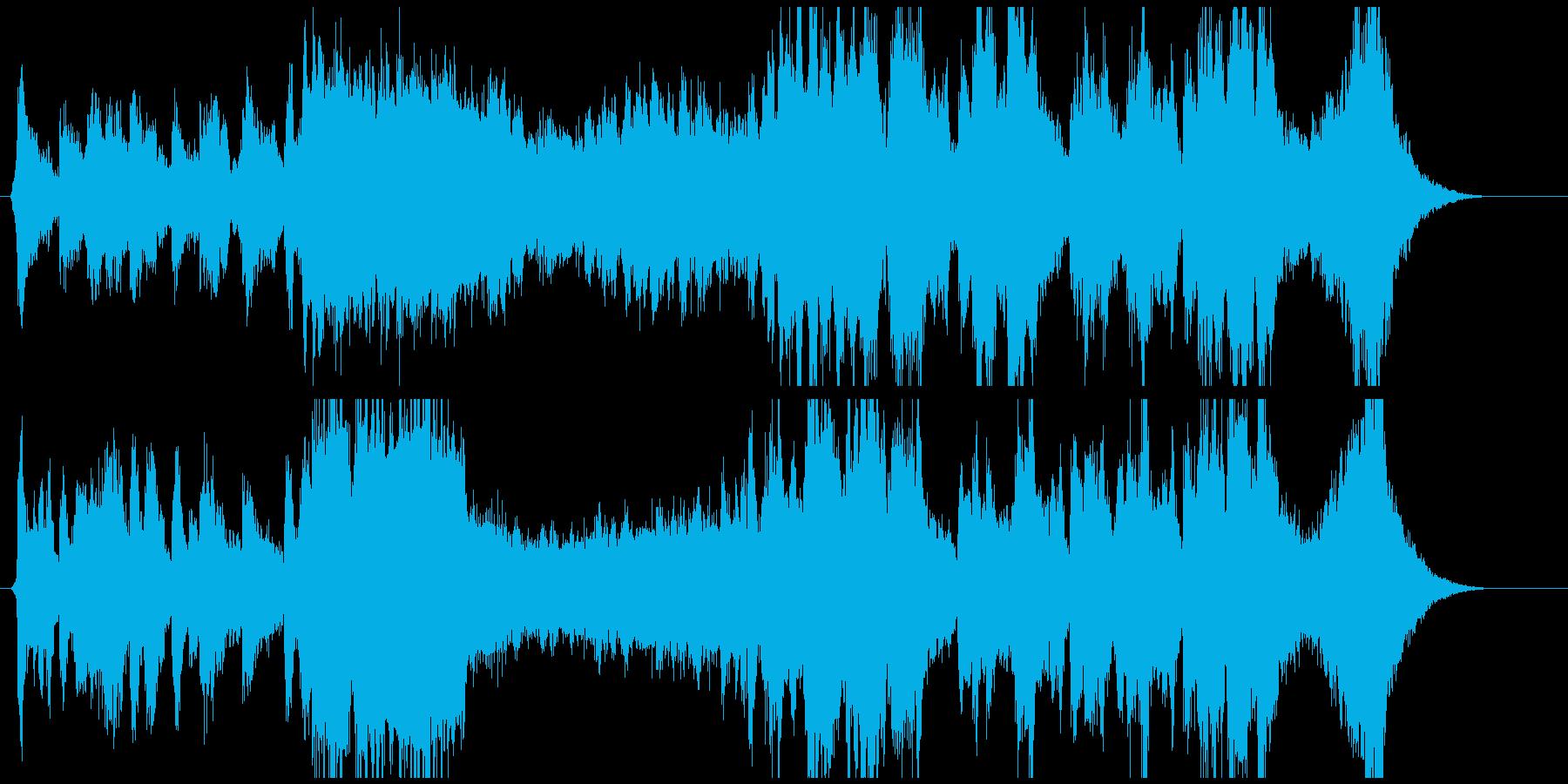 ワクワクさせる冒頭BGMの再生済みの波形