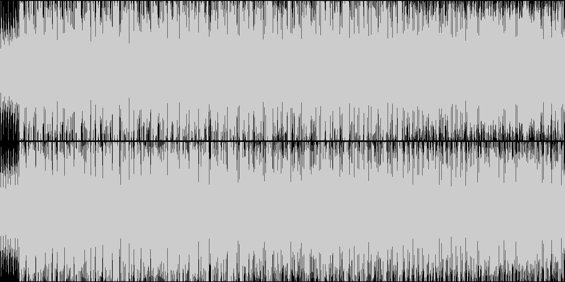 民族楽器を使った明るく疾走感のあるBGMの未再生の波形