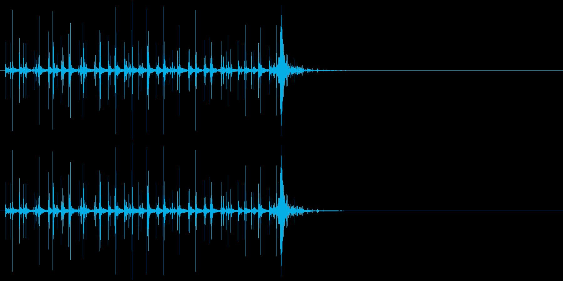 音侍SE「カラカラカラ〜」木製鳴子の音1の再生済みの波形