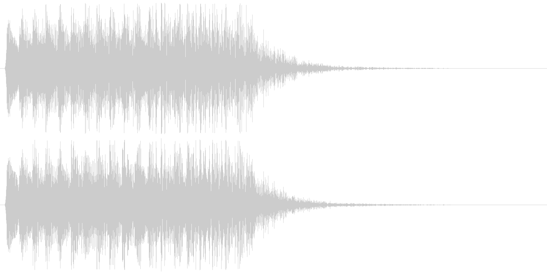 8bitなパワーダウン 下降音フレーズの未再生の波形