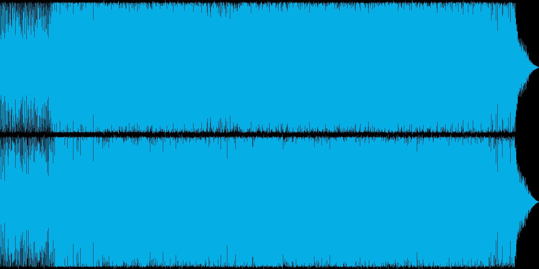 盛り上がる感じのEDM♫の再生済みの波形