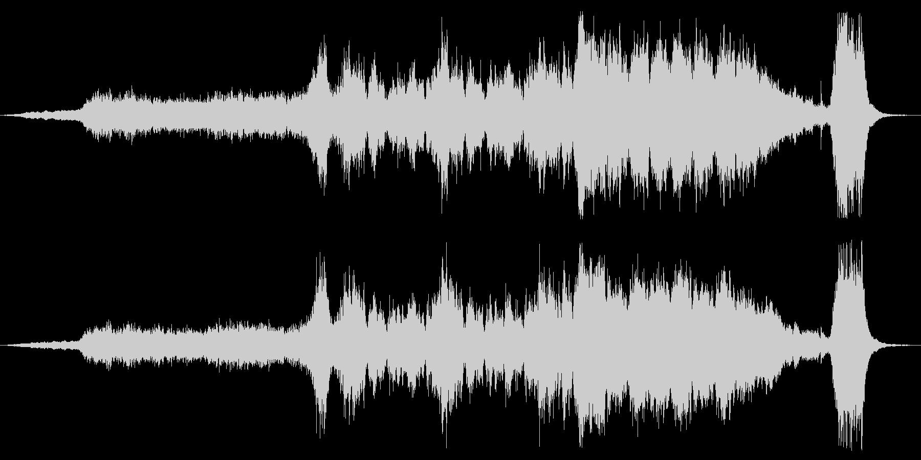 四度場面が変わるオーケストラ曲の未再生の波形