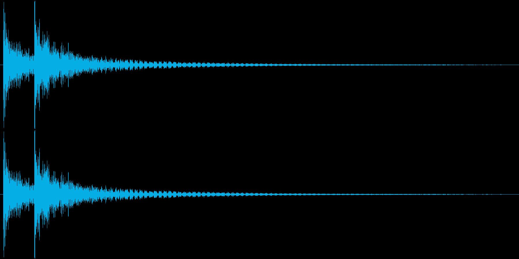 デデーン! って感じの打撃音です。 の再生済みの波形