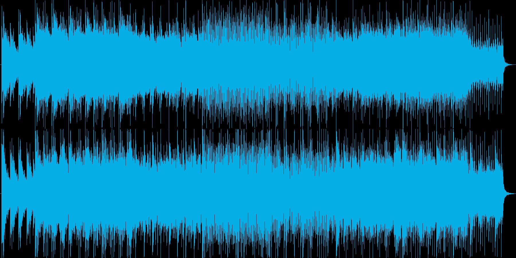 ピアノバンドによるエモーショナルトラックの再生済みの波形