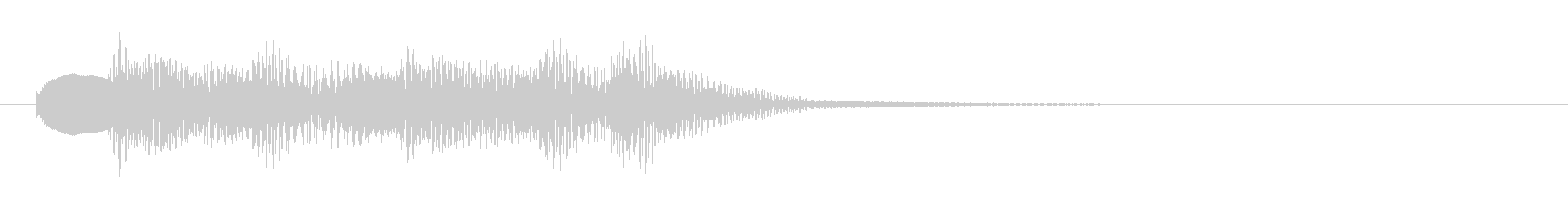 マリンバ おとぼけ(ジングル、転換音)の未再生の波形