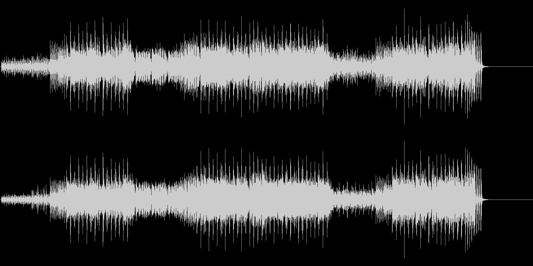 テクノ風味のエレクトリック・ポップスの未再生の波形