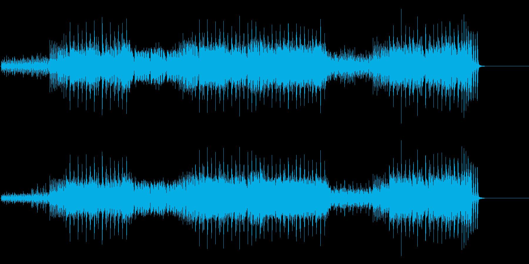テクノ風味のエレクトリック・ポップスの再生済みの波形