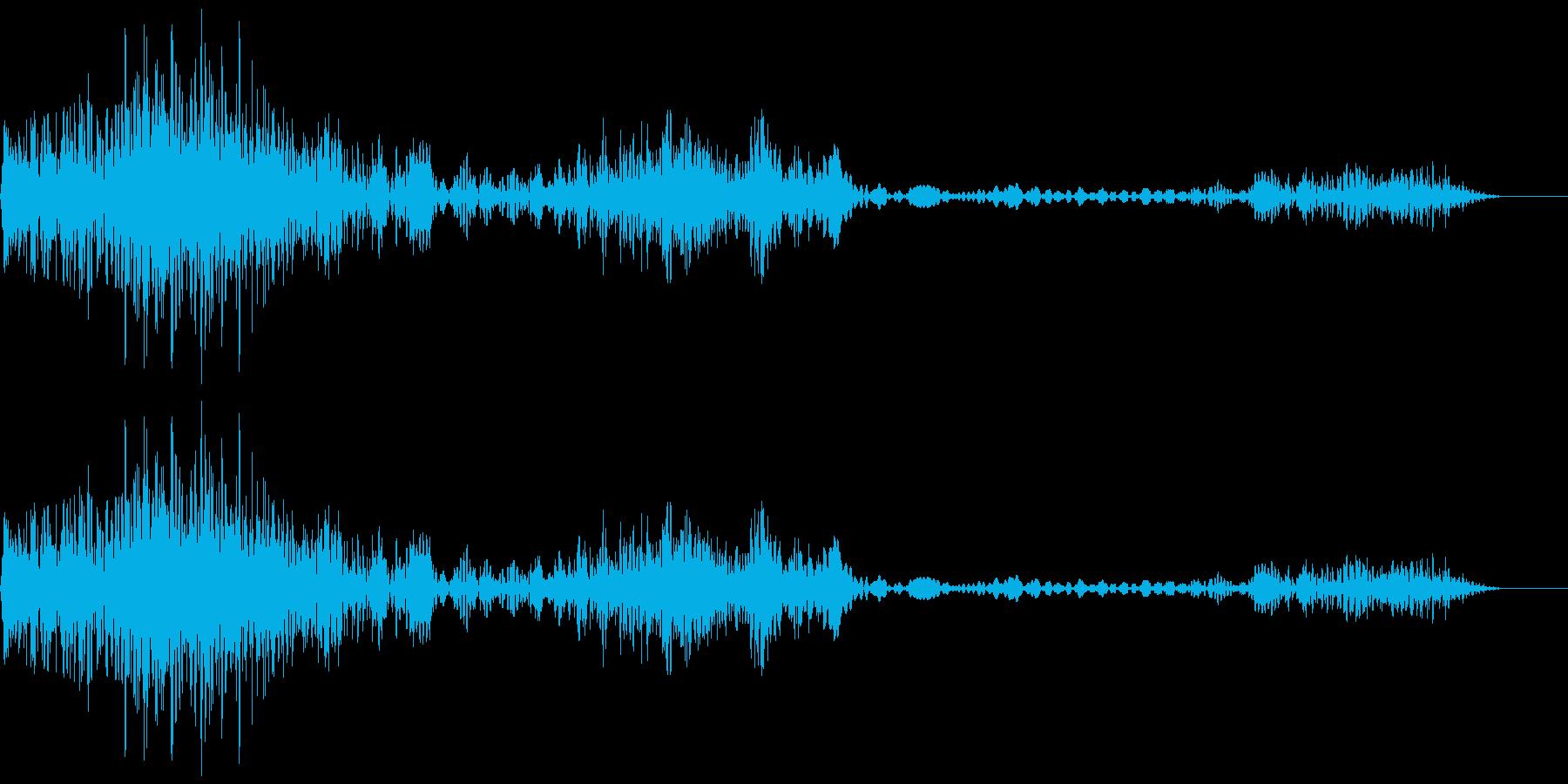 衝撃、ノイズ(バシッシュワシュワ)の再生済みの波形