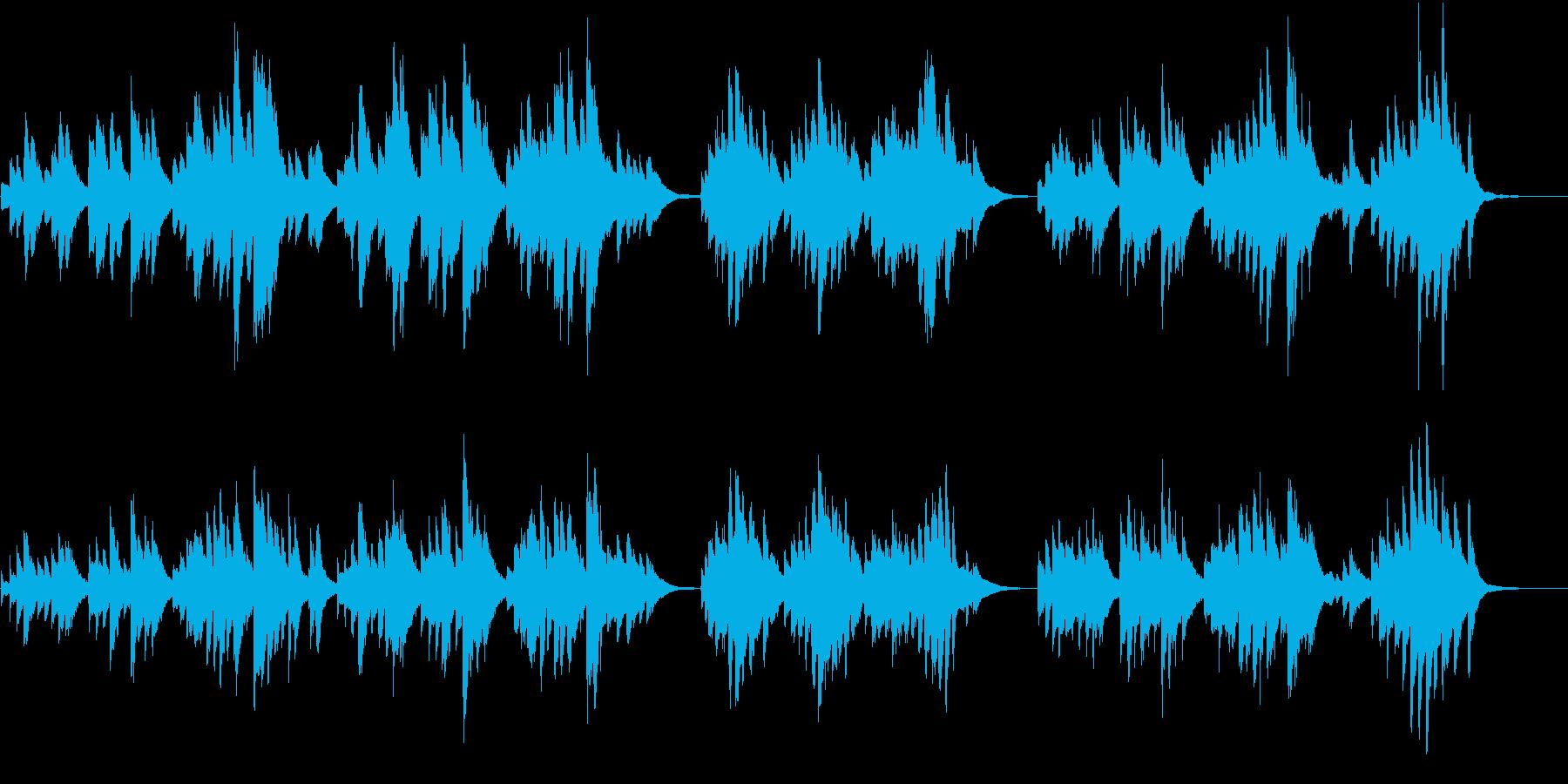 どんより曇り空みたいな重いピアノ曲の再生済みの波形