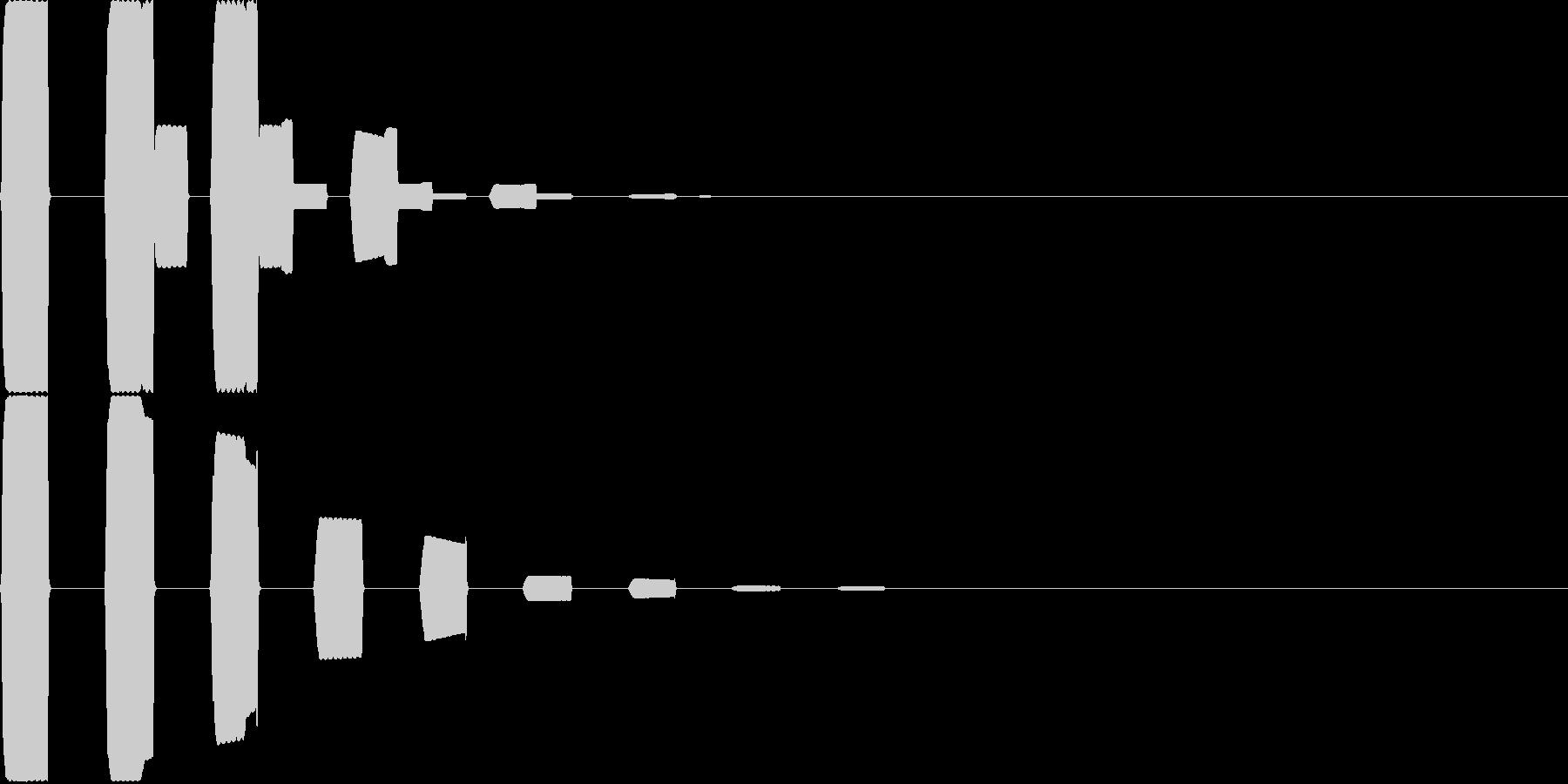 汎用決定ボタン - 7の未再生の波形
